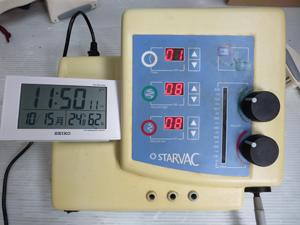 美容機器 電波時計 撮影